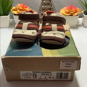 Umi Sammie Leather Sneaker Baby Shoes